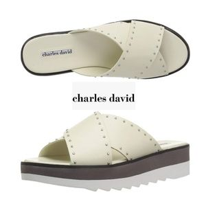 Casual Chic Charles David Platform Slides